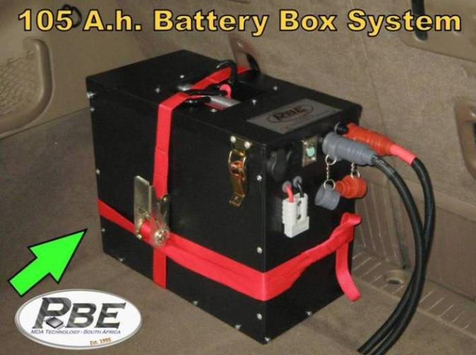 Battery Box System (Steel, Powder Coated Box). Installed In Loading Bay Of Jeep  Grand Cherokee ...